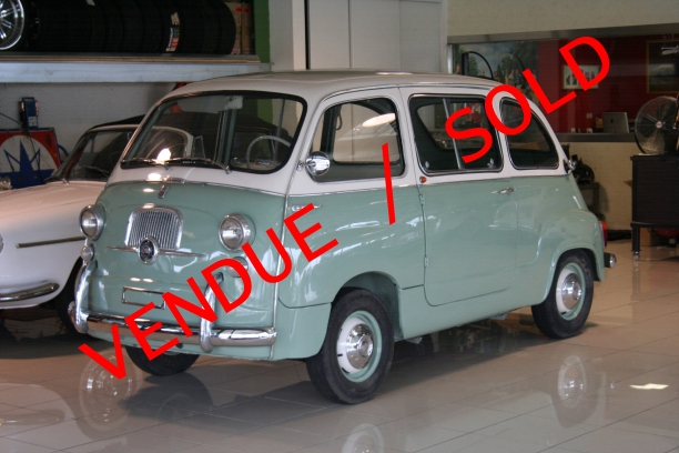 a vendre for sale fiat 600 d multipla 1961. Black Bedroom Furniture Sets. Home Design Ideas